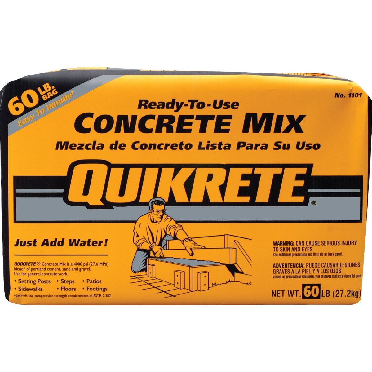 Quikrete 60LB CONCRETE MIX 110160
