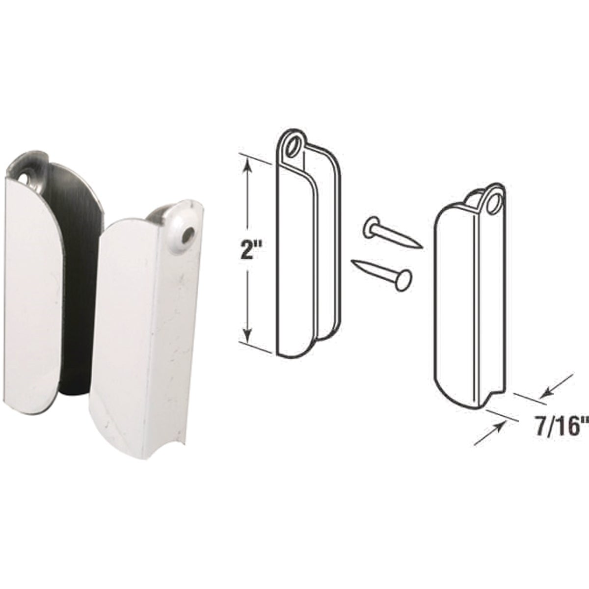 "7/16""WHT ALUM TOP HANGER - PL15565 by Prime Line Products"