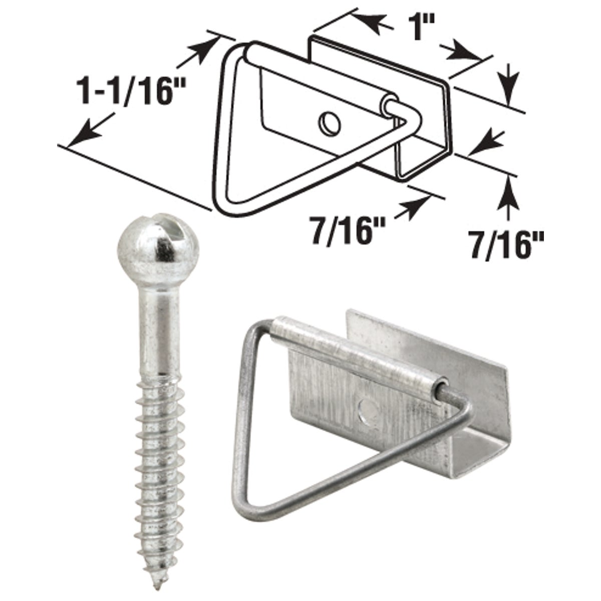 "7/16""MIL SCN FM FASTENER - PL7762 by Prime Line Products"
