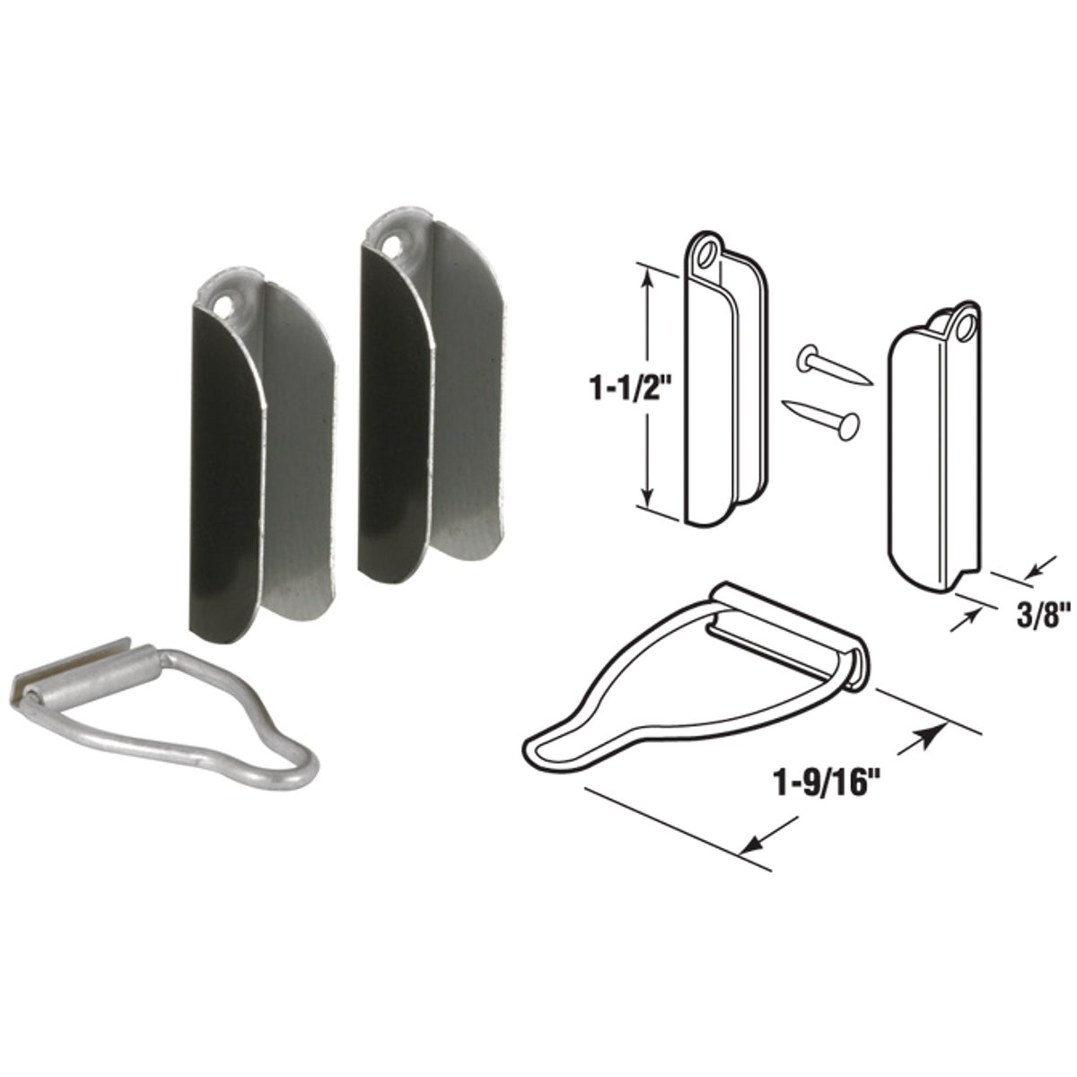 "2PK 3/8""BRN LATCH HANGER - PL8102 by Prime Line Products"