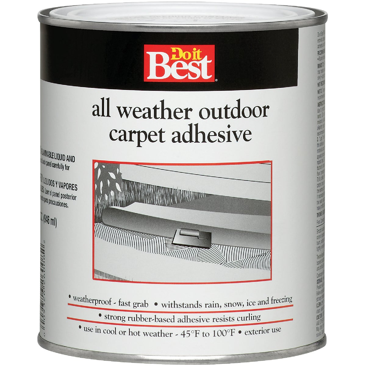 QT DI OD CARPET ADHESIVE - 26008 by Dap Inc