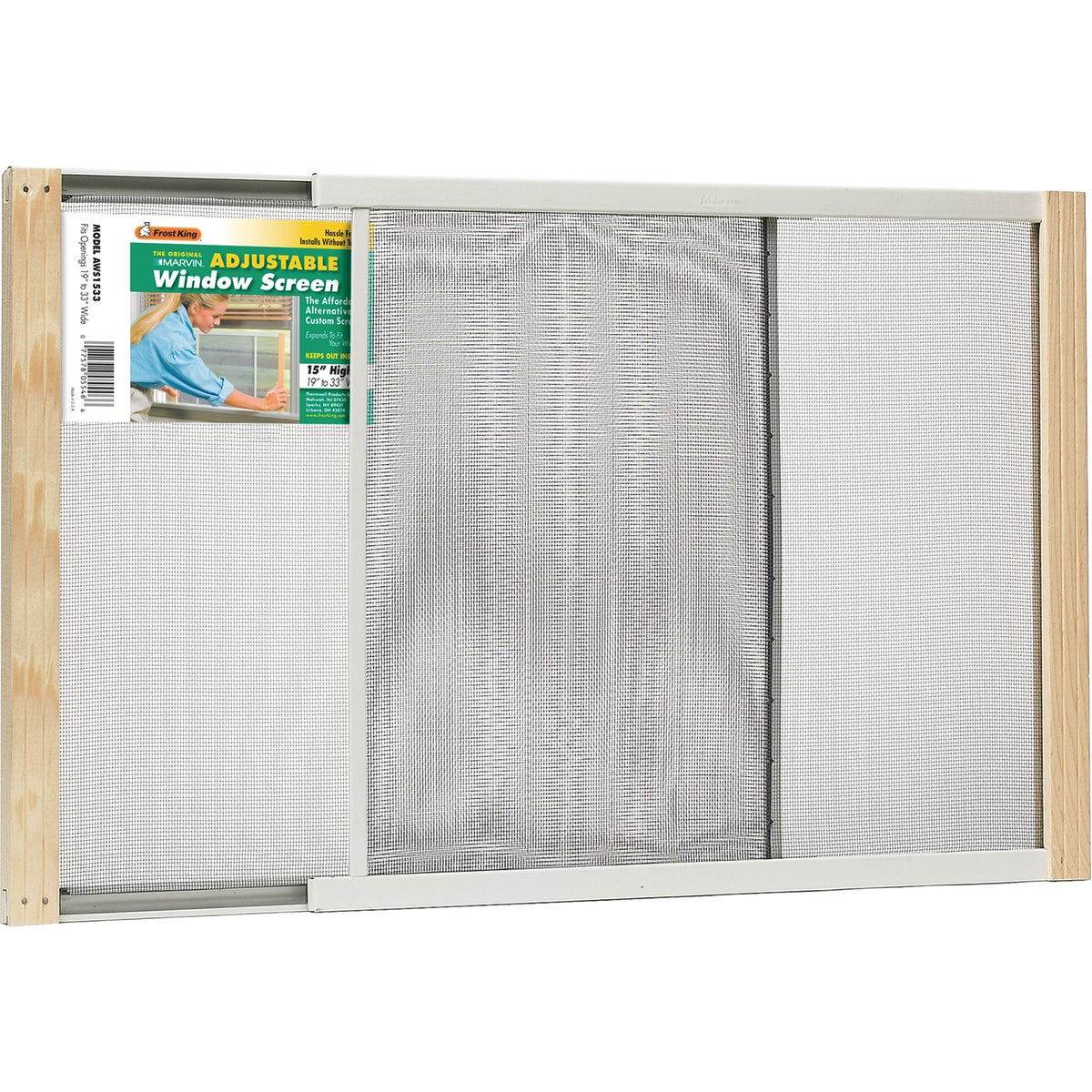 ADJUSTABLE WINDOW SCREEN - AWS1533 by Thermwell Prods Co