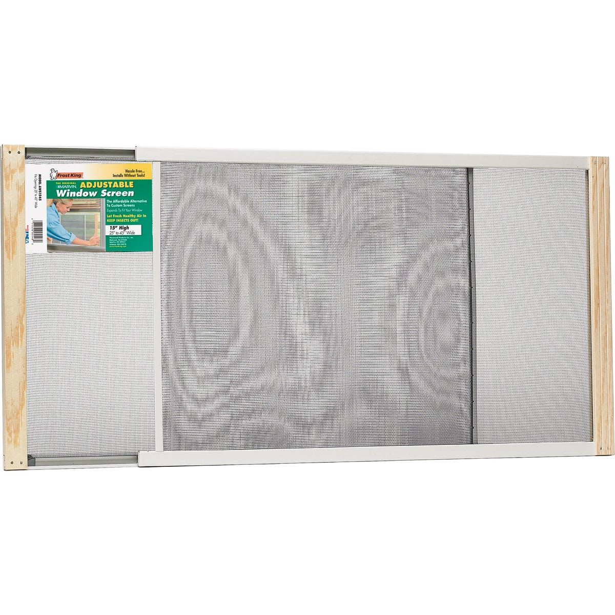 ADJUSTABLE WINDOW SCREEN - AWS1545 by Thermwell Prods Co