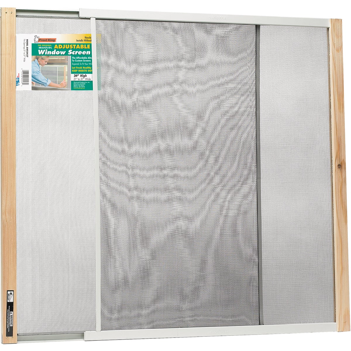 ADJUSTABLE WINDOW SCREEN - AWS2437 by Thermwell Prods Co