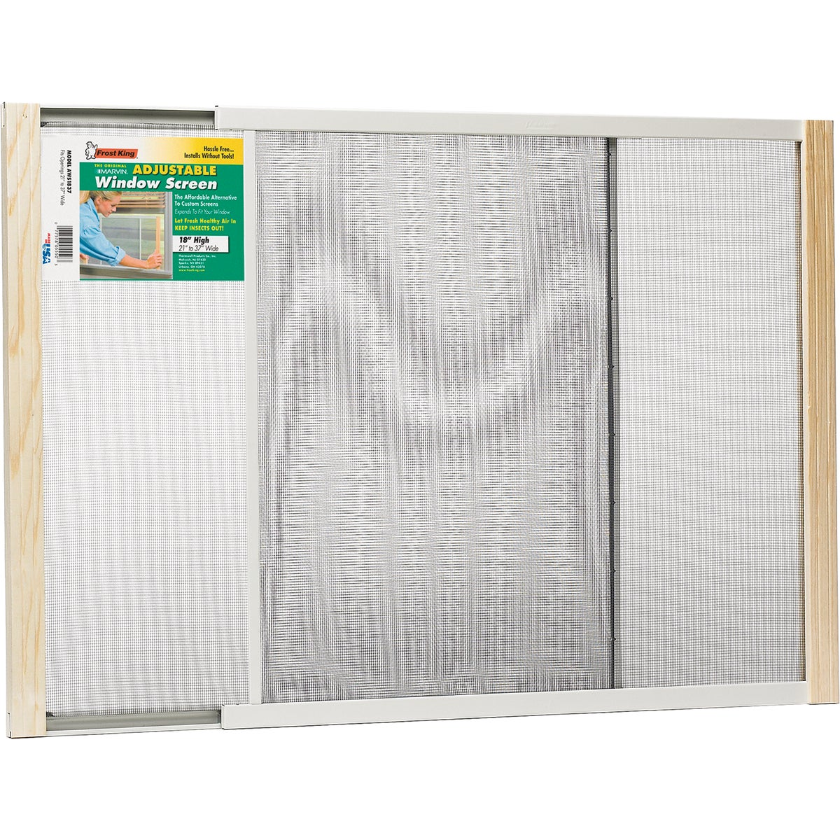 ADJUSTABLE WINDOW SCREEN - AWS1837 by Thermwell Prods Co