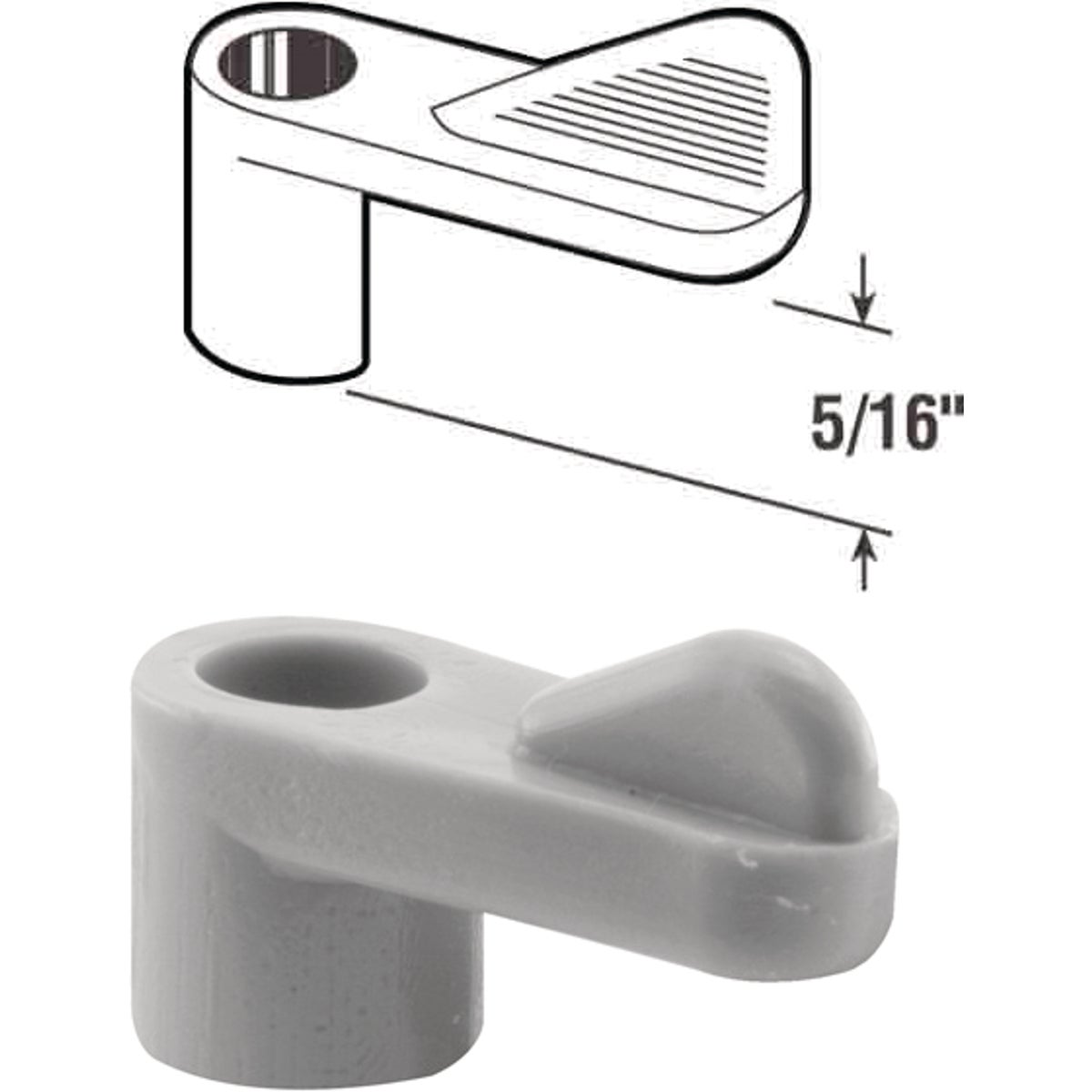 "5/16"" GRAY SCREEN CLIP - PL7741 by Prime Line Products"