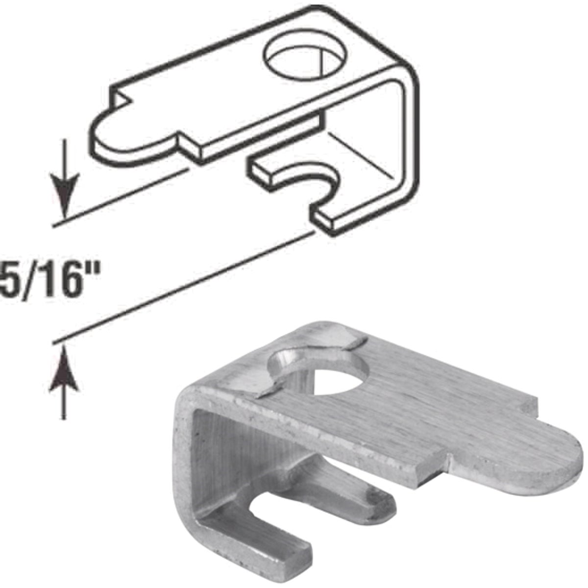 "5/16"" ALUM SCREEN CLIP - PL7744 by Prime Line Products"
