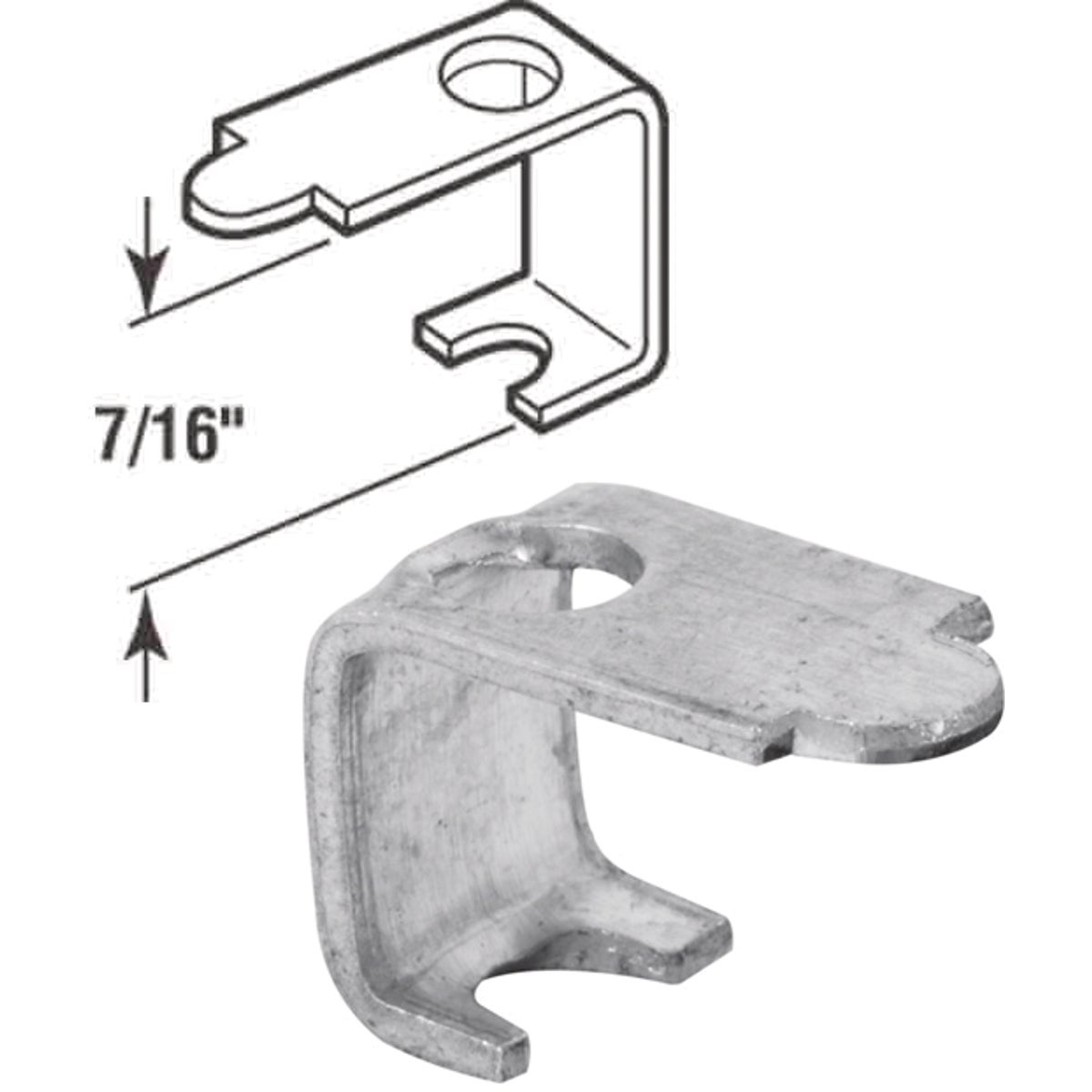 "7/16"" ALUM SCREEN CLIP - PL7746 by Prime Line Products"