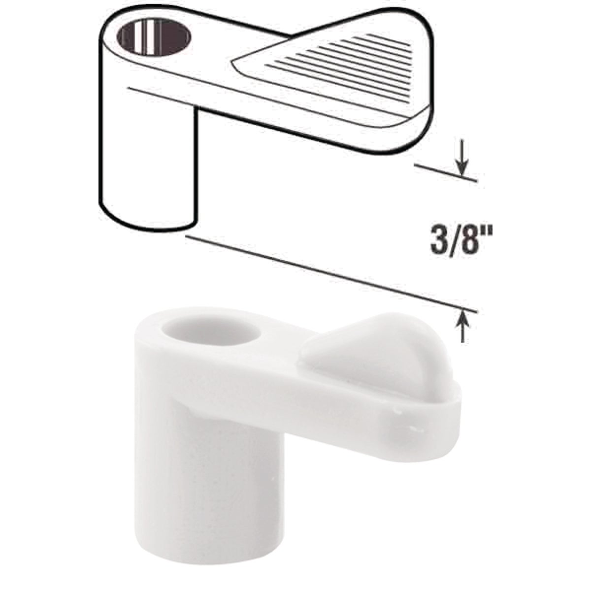 "3/8"" WHT SCREEN CLIP - PL7774 by Prime Line Products"