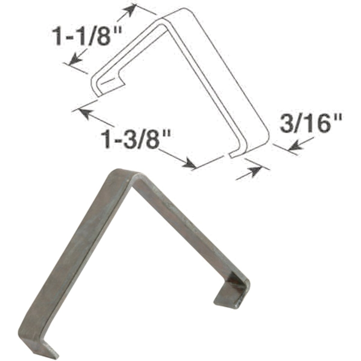 1-1/8X1-3/8X3/16 IN CLIP - PL14871 by Prime Line Products