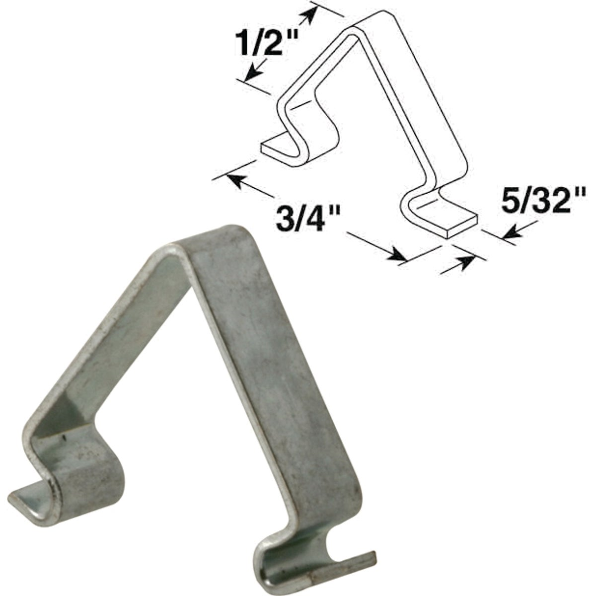 1/2X3/4X5/32 INSERT CLIP - PL14863 by Prime Line Products