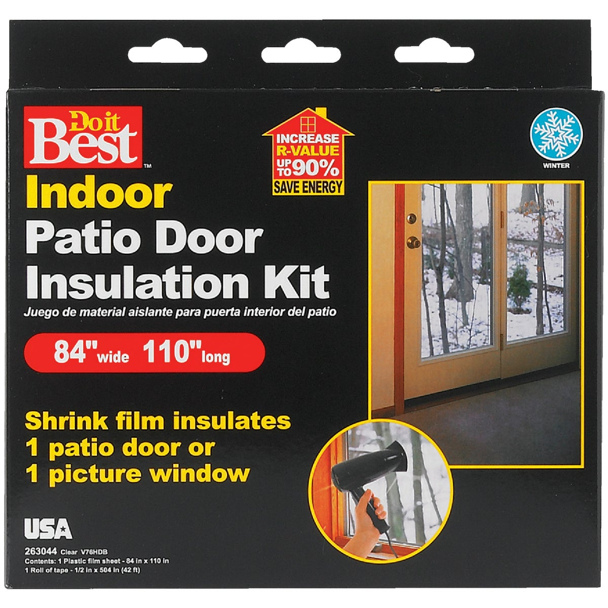 PATIO DOOR SHRK FILM KIT - V76HDB by Thermwell Prods Co