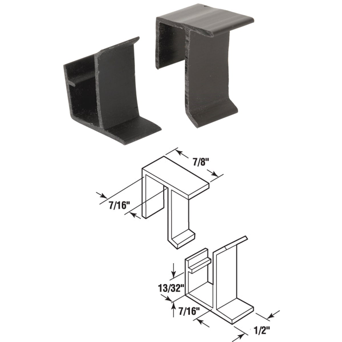 4 SETS TP&BTM RETNR CLIP - PL7765 by Prime Line Products