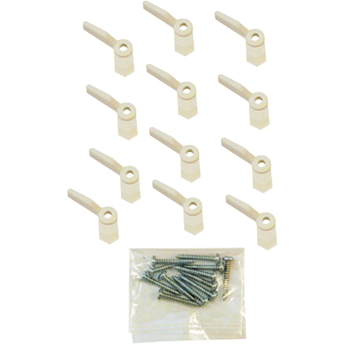 12PK WHT NYL TURN BUTTON