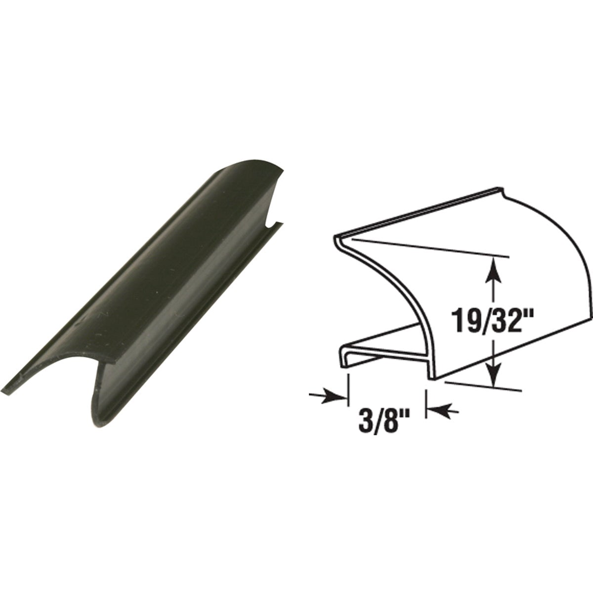 "72"" BLK RIGID SPLINE - P7816 by Prime Line Products"