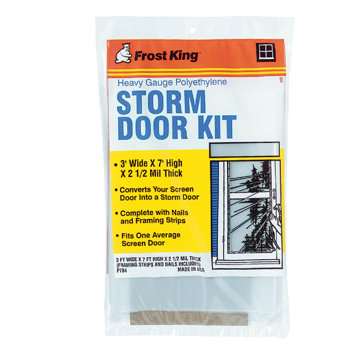 Thermwell Prods. Co. 3X7 STORM DOOR KIT P784H
