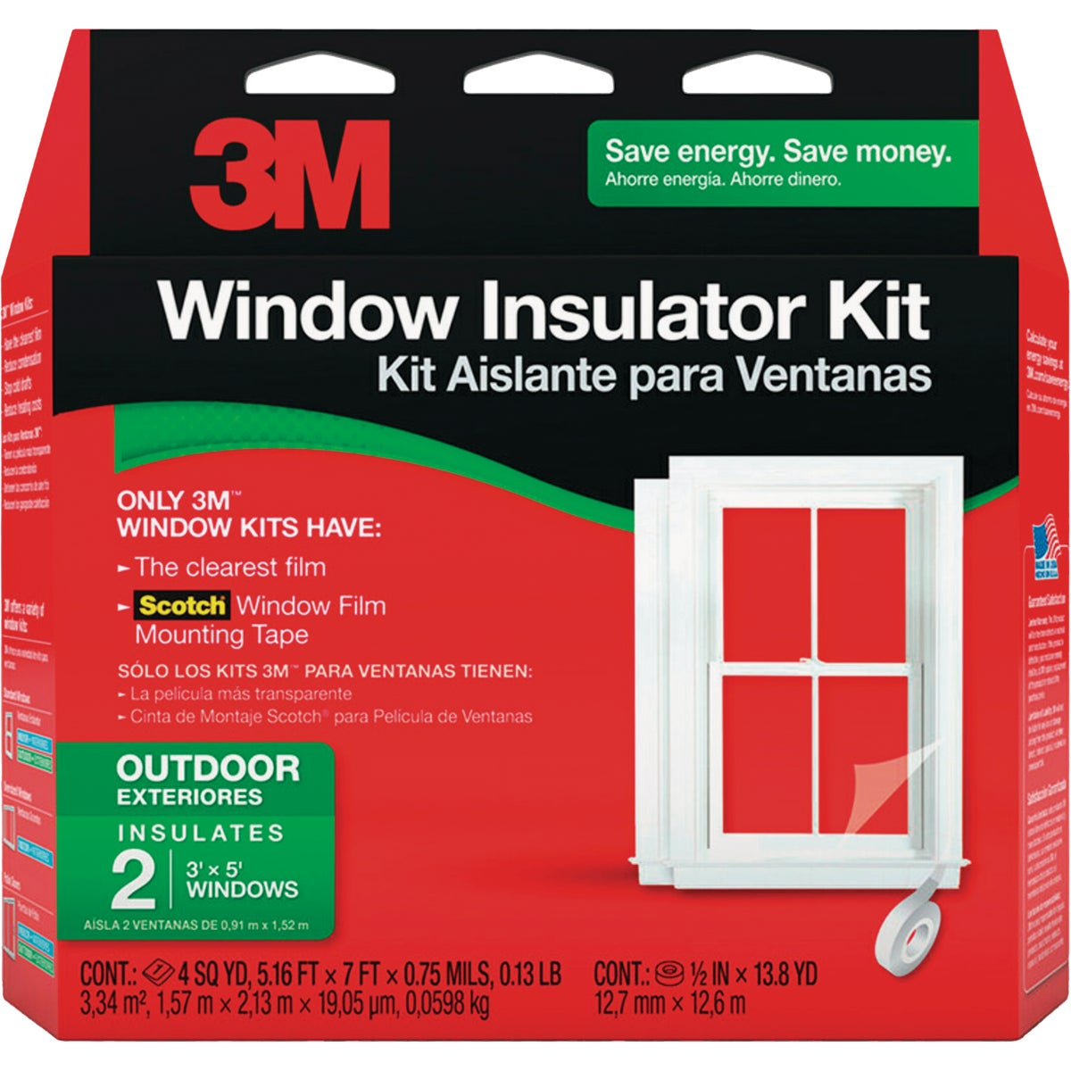3M 62 In. x 84 In. Outdoor Window Insulation Kit (2-Pack)