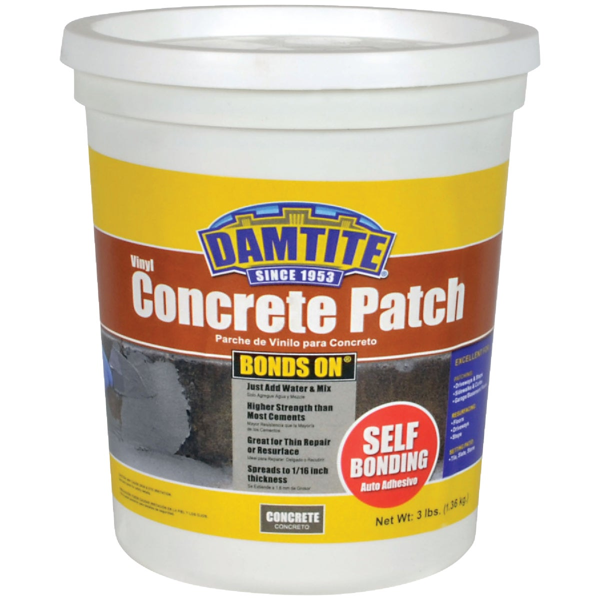 Thoro Consumer Products 3LB THOROCRETE PATCH T5022