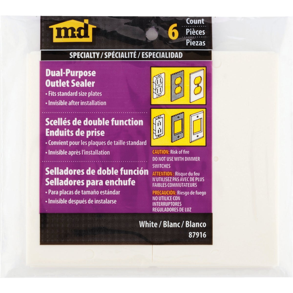 WALL PLATE SEALER - 87916 by M D Building Prod
