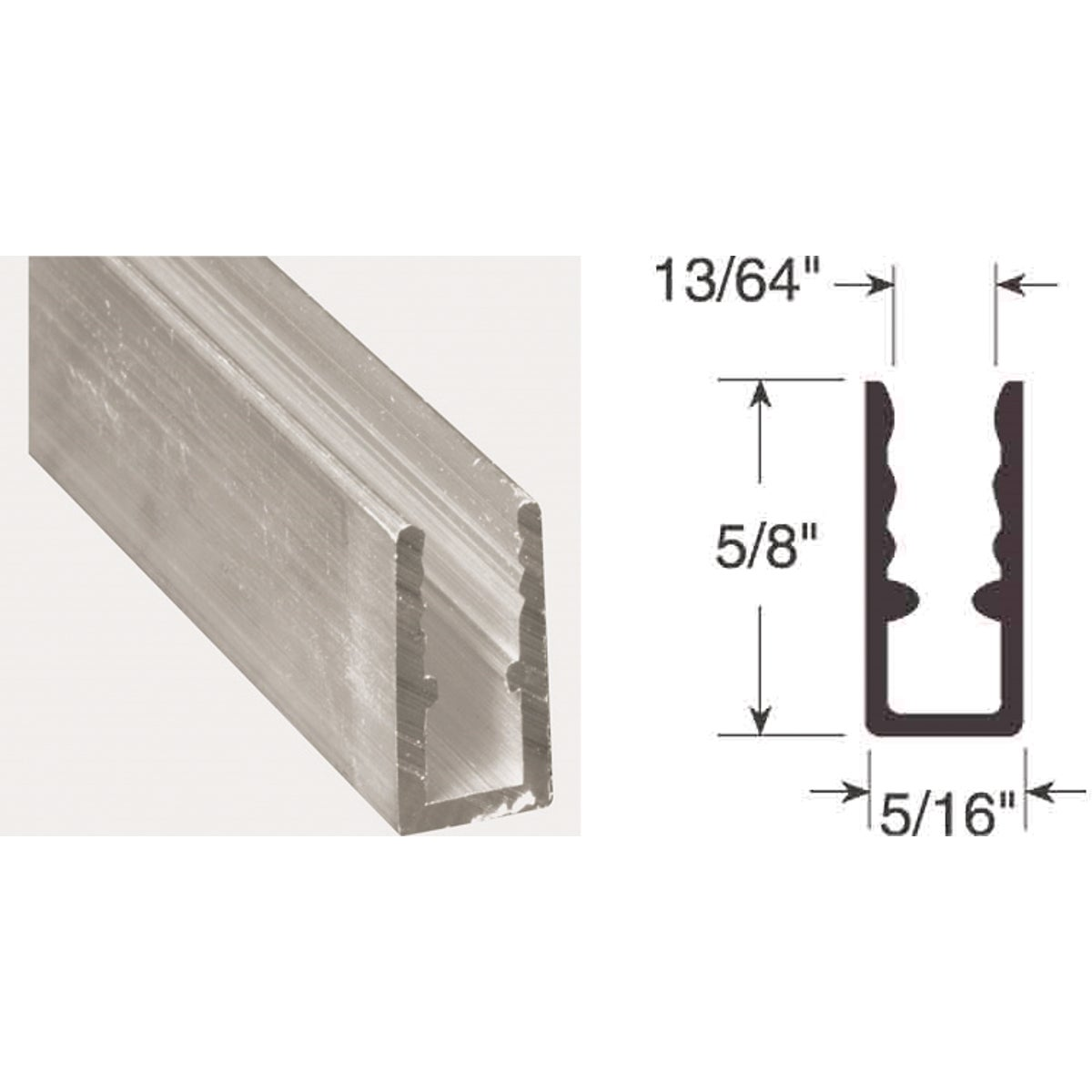 5/16X5/8X94 WINDOW FRAME - PL14164 by Prime Line Products