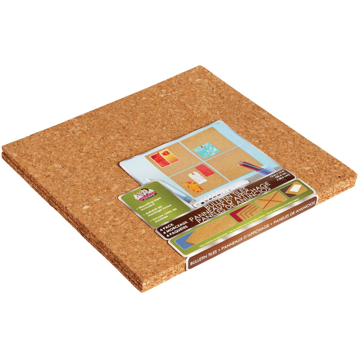 12X12 LIGHT TILE CORK - 70 by Board Dudes Inc