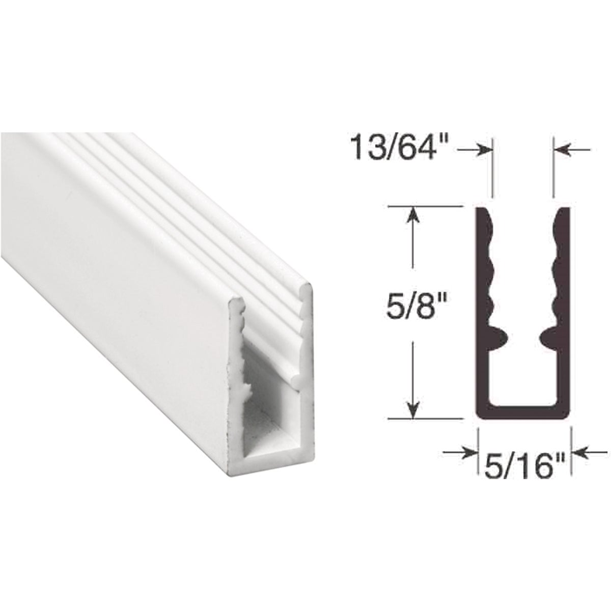 5/16X5/8X94 WINDOW FRAME - PL14166 by Prime Line Products