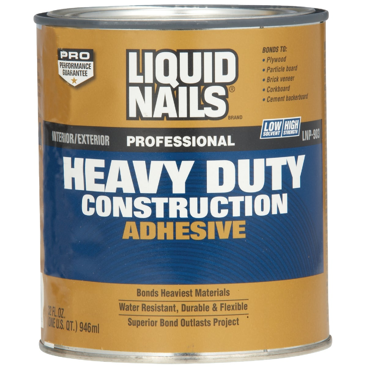 QT H/D CONST ADHESIVE - LNP903 by Liquid Nails/akzonob