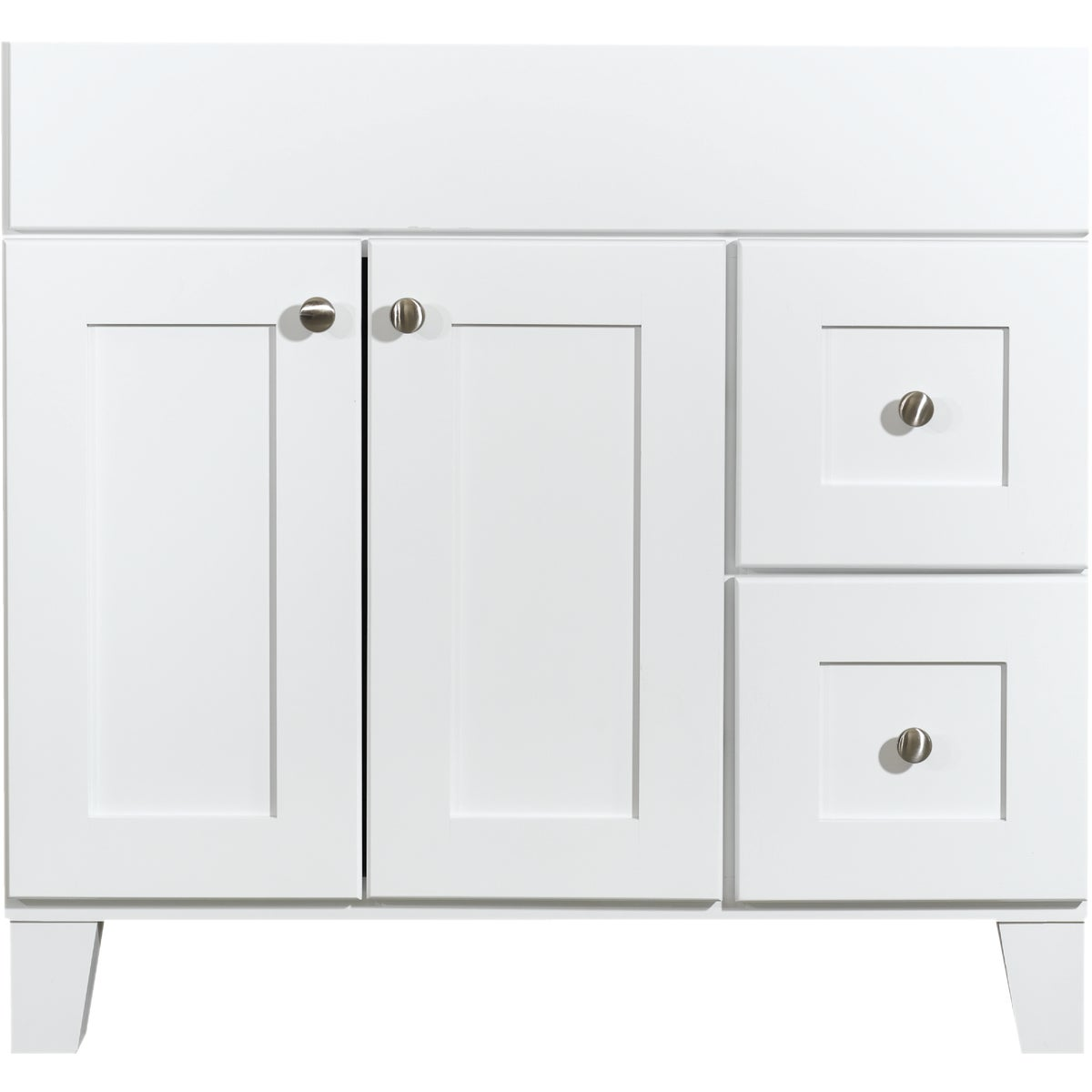 "36"" OSAGE WHITE VANITY - P/OBW-VTR36T-WL-05 by Bertch Cab Mfg Inc"