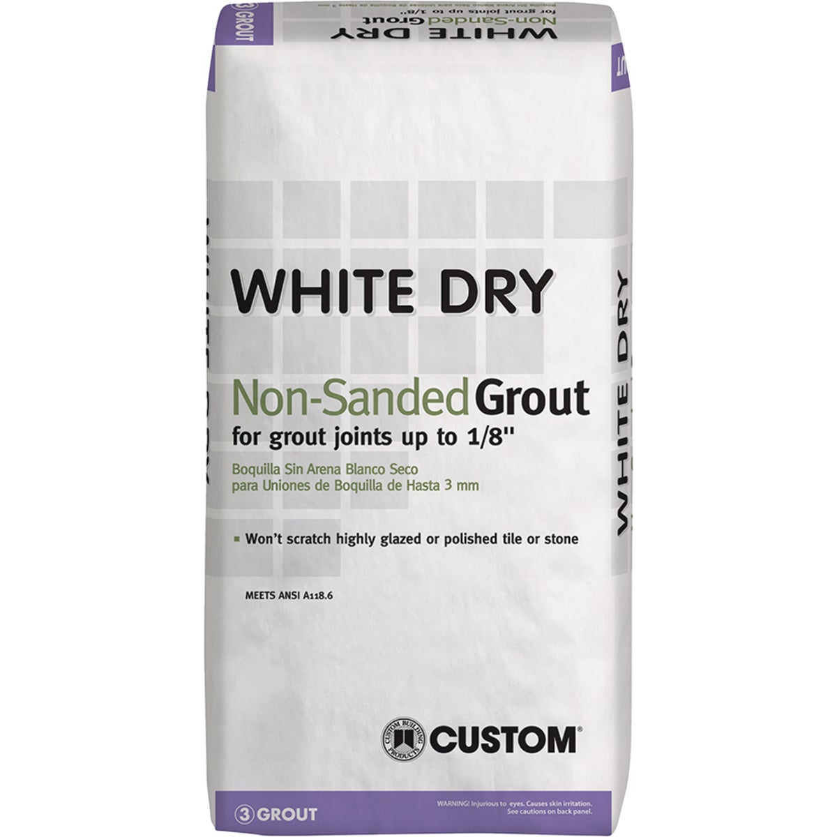 25LB WHITE TILE GROUT - WDG25 by Custom Building Prod