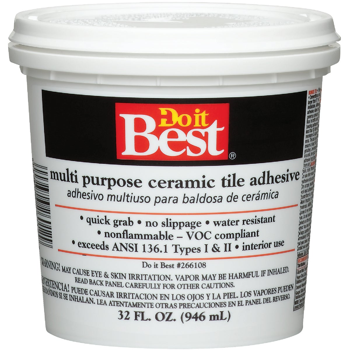 QT CERAMIC TILE ADHESIVE - 26012 by Dap Inc