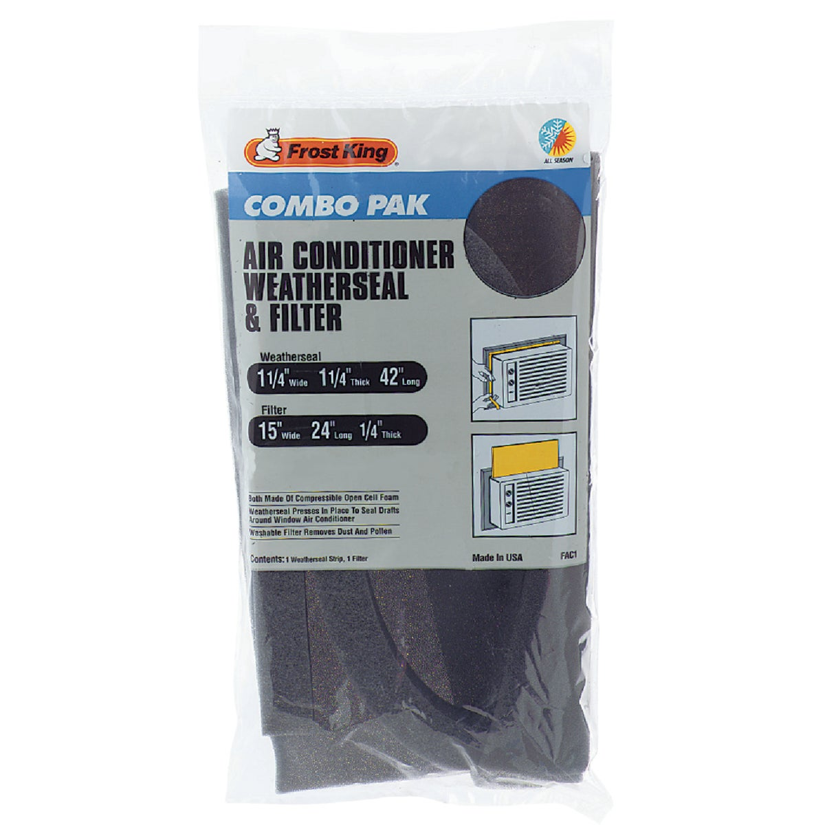 Air Conditioner Filter & Weatherseal Kit