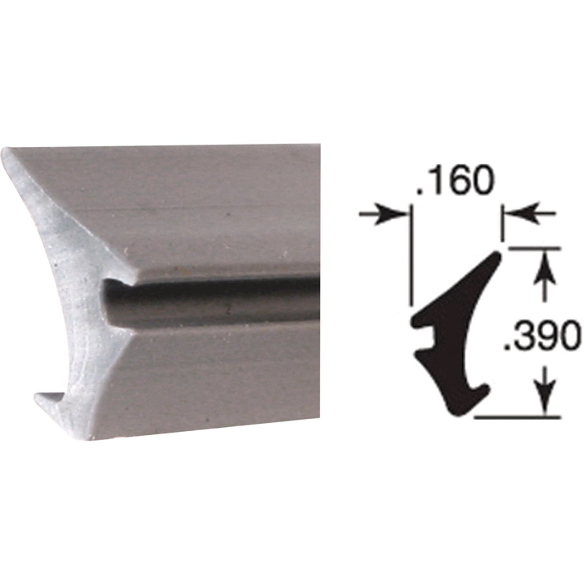 200' GRAY GLASS SPLINE - P7774 by Prime Line Products