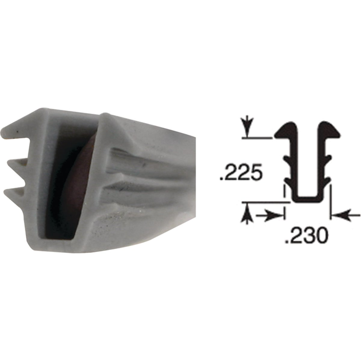9/32X5/32X200 U-CHANNEL - P7732 by Prime Line Products
