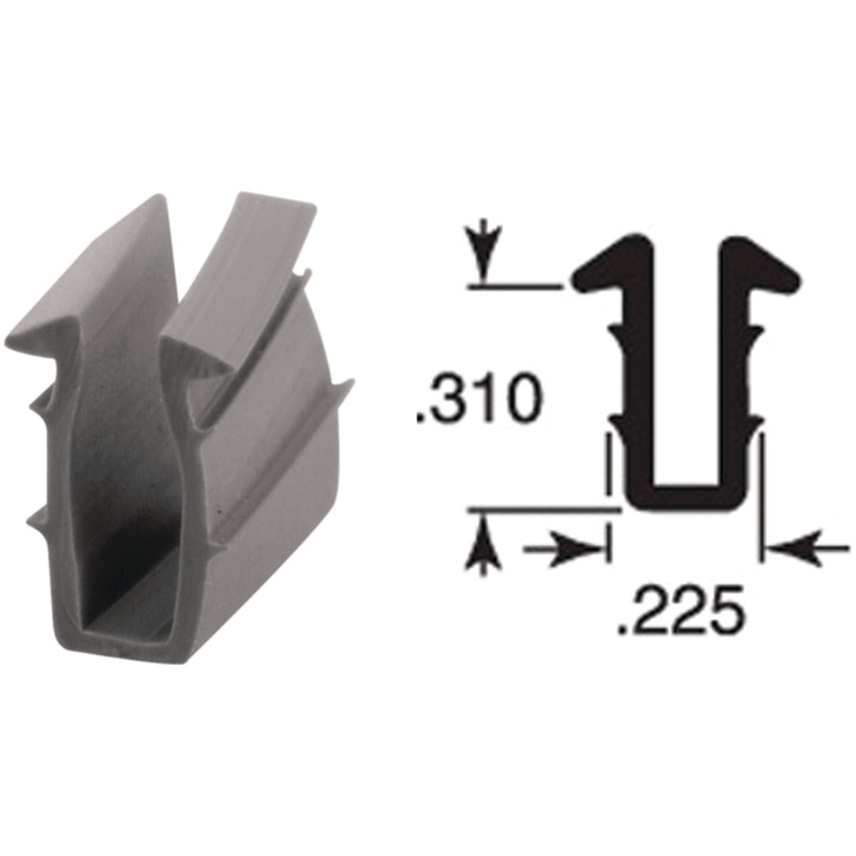 9/32X1/4X200 U-CHANNEL - P7744 by Prime Line Products
