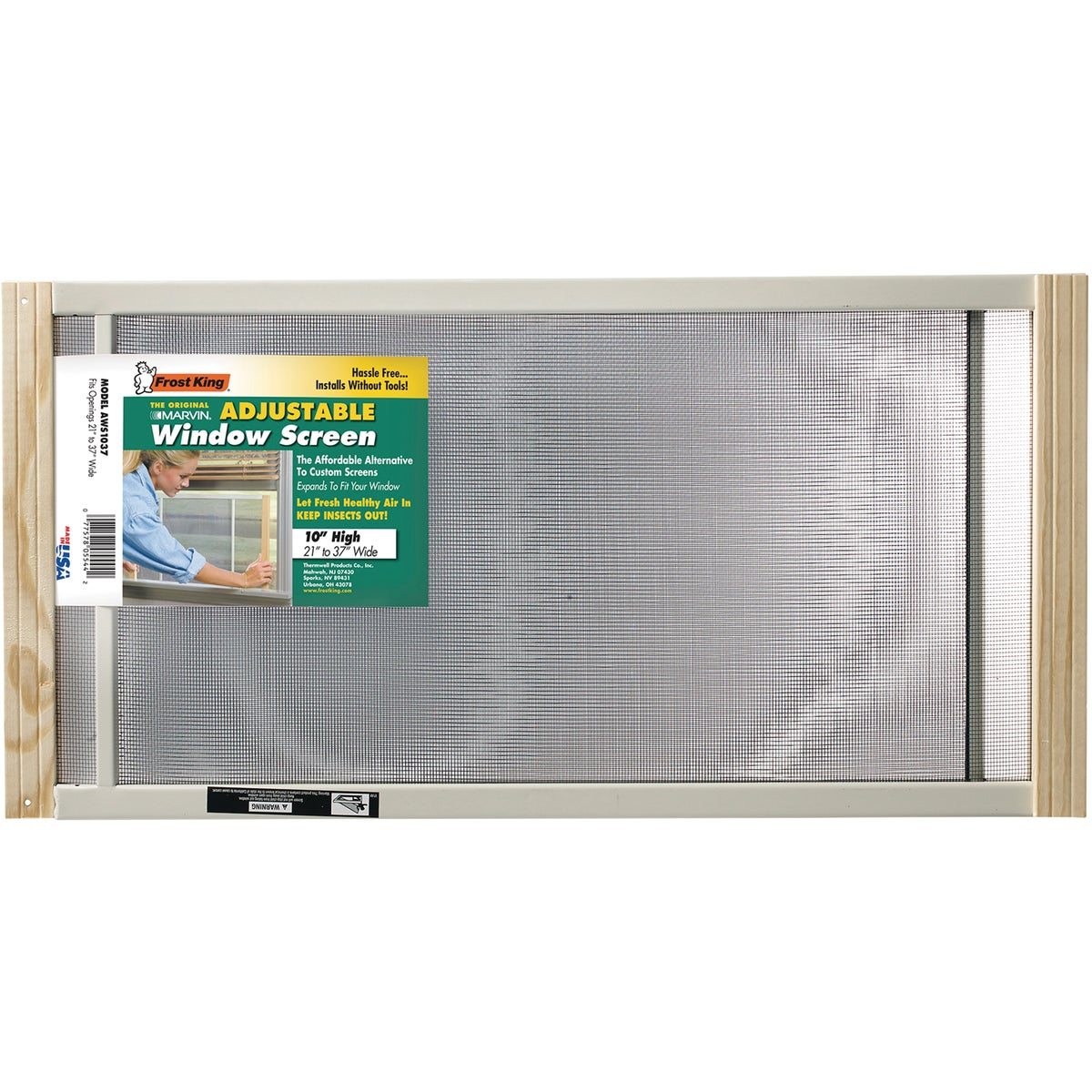 ADJUSTABLE WINDOW SCREEN - AWS1037 by Thermwell Prods Co
