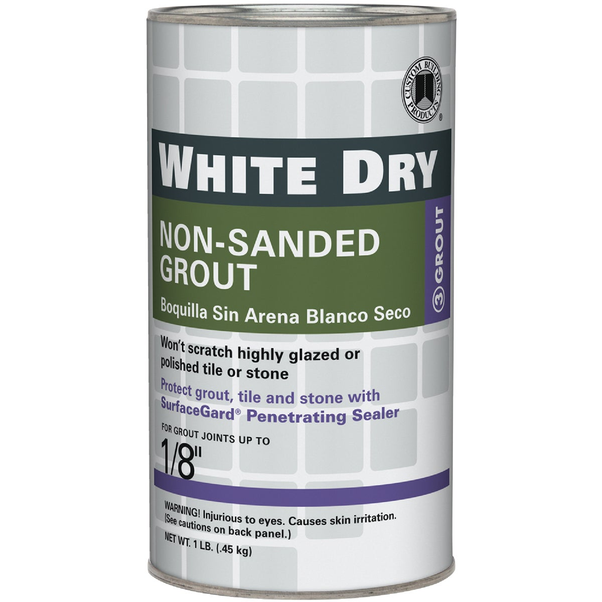 1LB WHITE TILE GROUT - WDG1-6 by Custom Building Prod