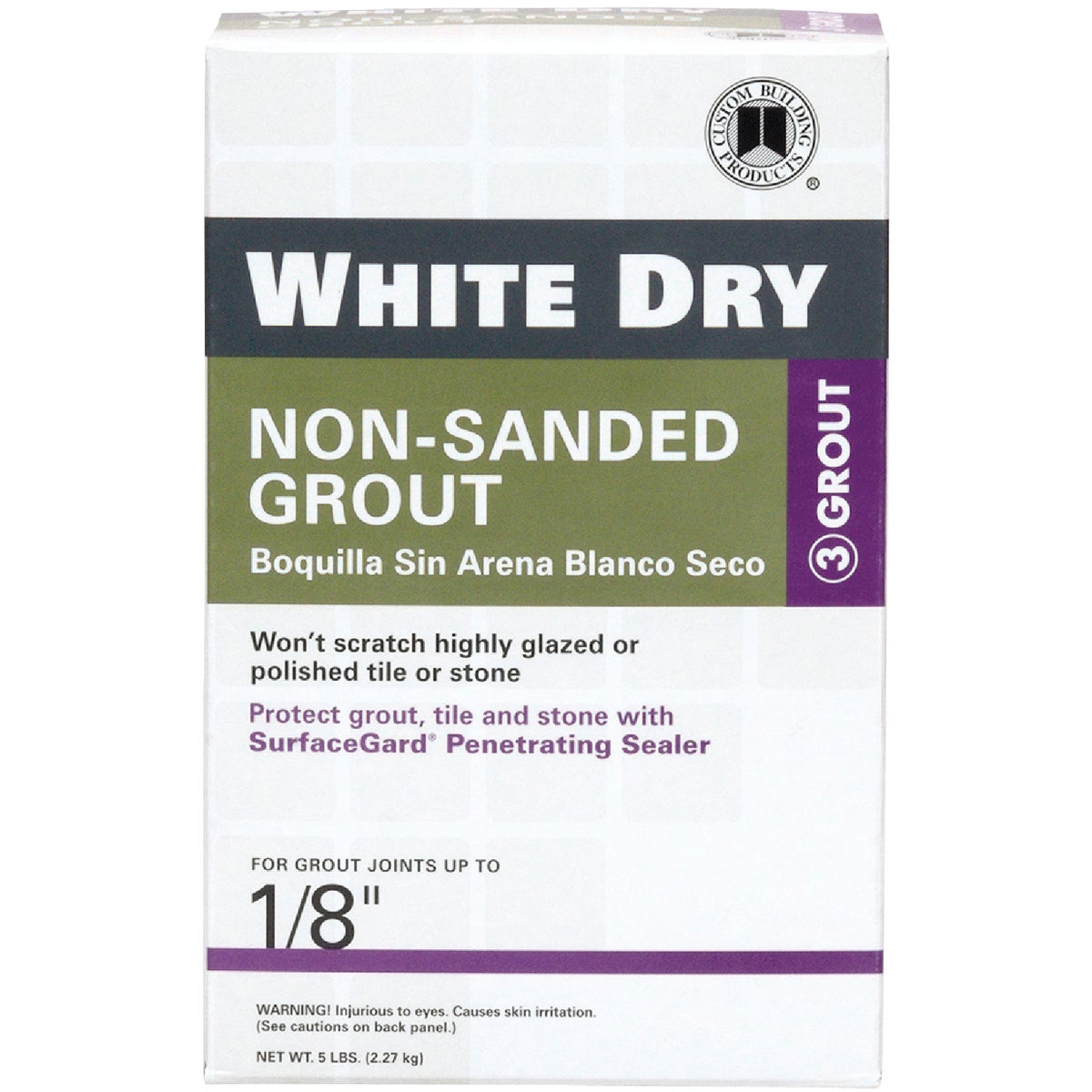 5LB WHITE TILE GROUT - WDG5-4 by Custom Building Prod