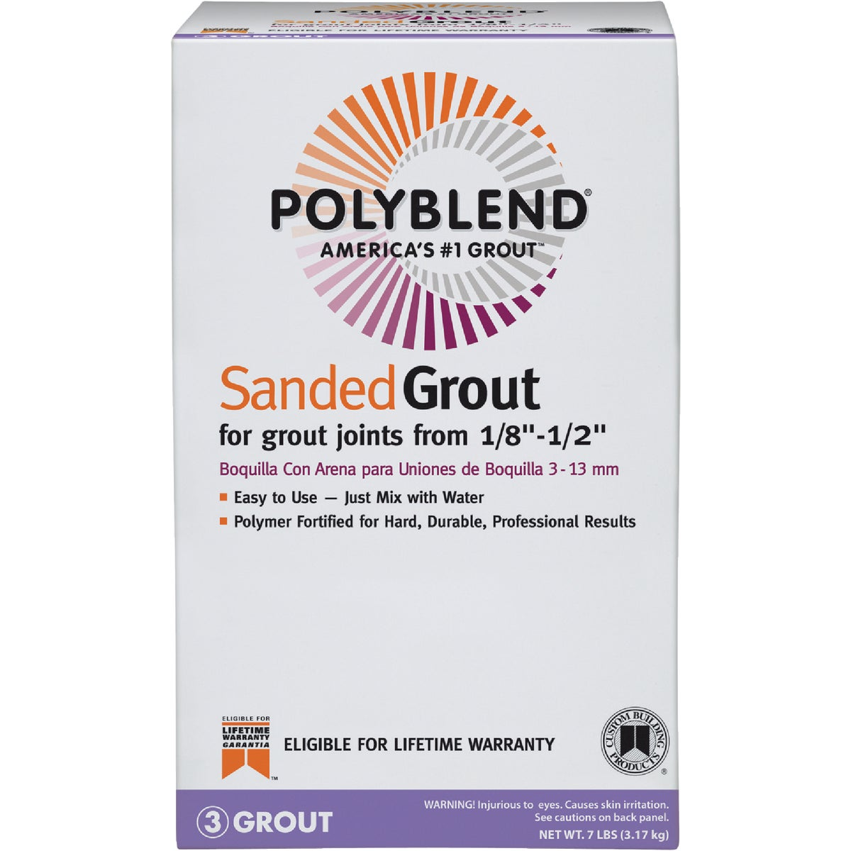 7LB SNW WHT SANDD GROUT - PBG117-4 by Custom Building Prod