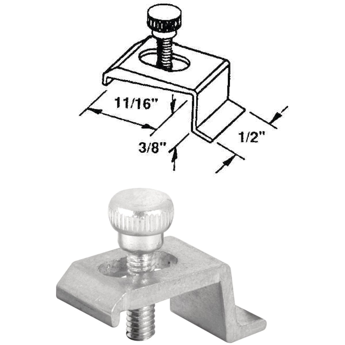 11/16X3/8 PANEL CLIP - PL14756 by Prime Line Products