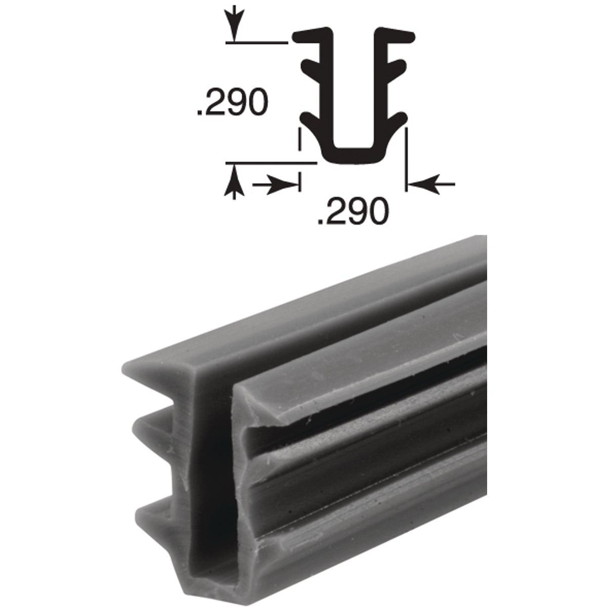 19/64X15/64X100 UCHANNEL - P7741 by Prime Line Products