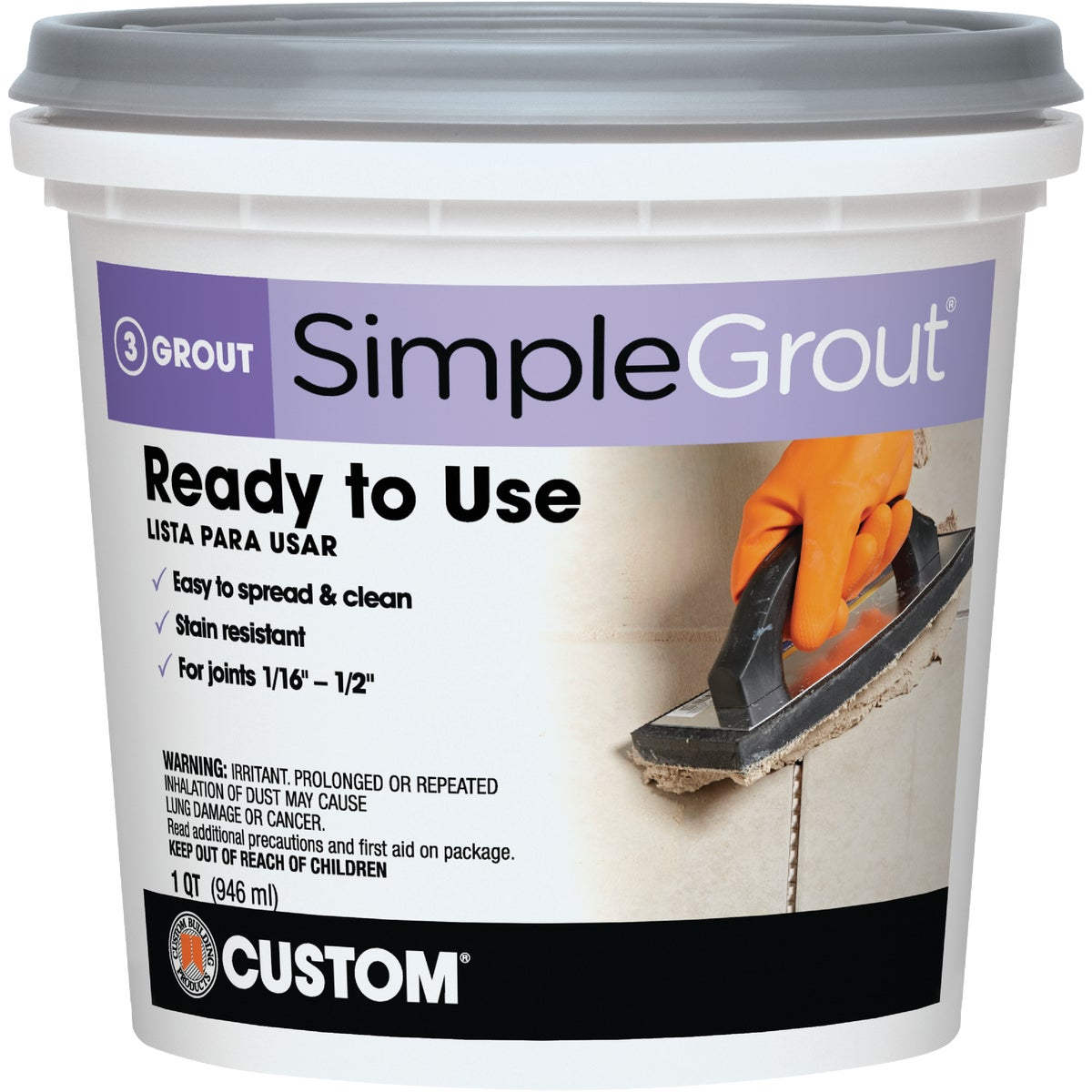 QT EARTH PREMIX GROUT - PMG105QT by Custom Building Prod