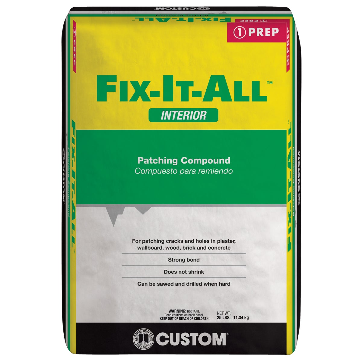 25LB BAG FIXALL PATCH - DPFXL25 by Custom Buildng Prods
