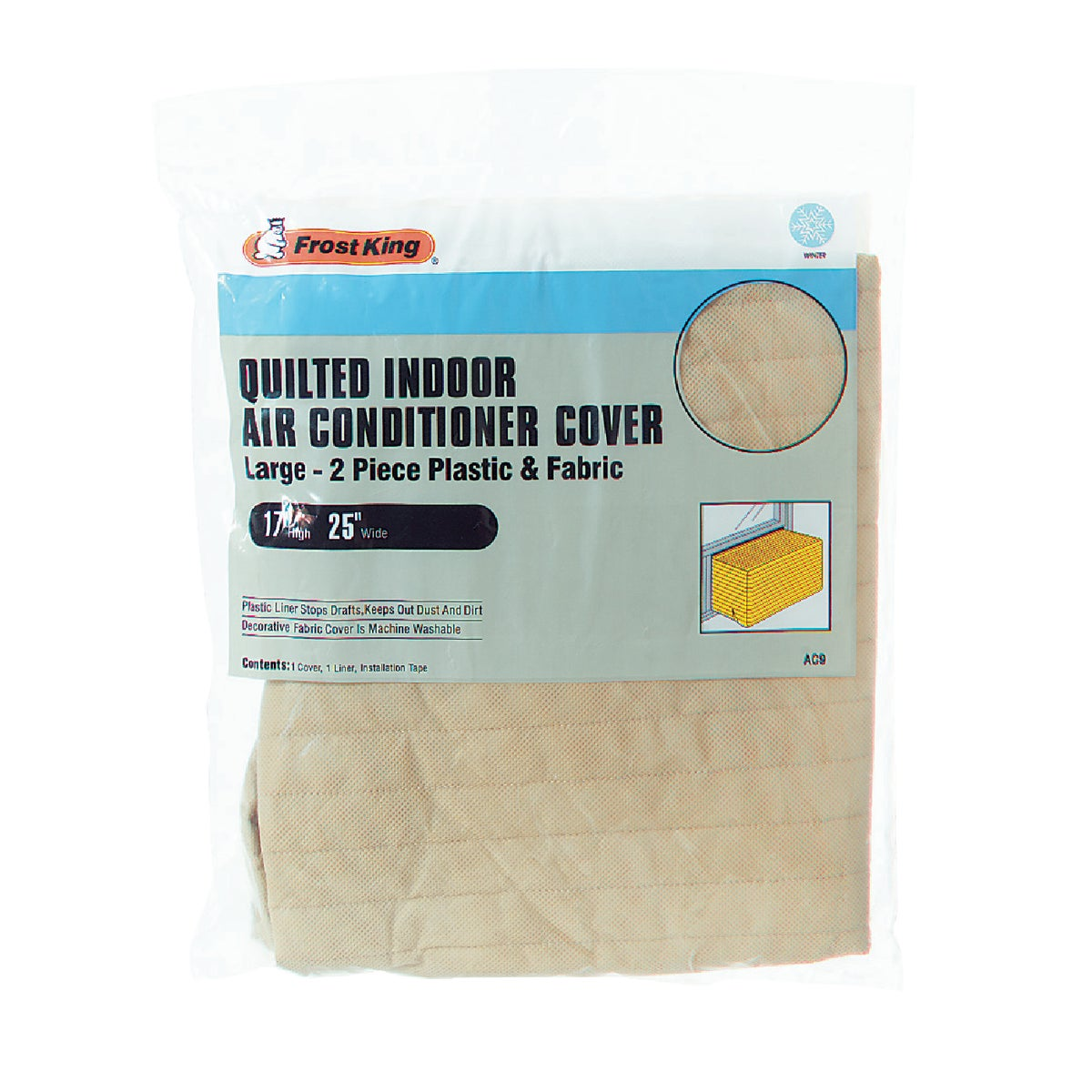 BEIGE QUILTED AC COVER