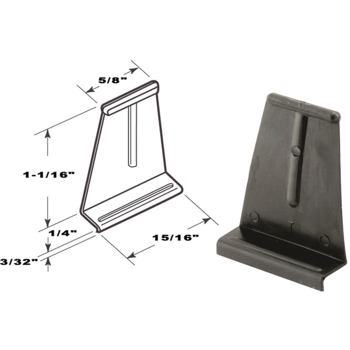 25PK CHANNEL PULL TAB - PL14621 by Prime Line Products