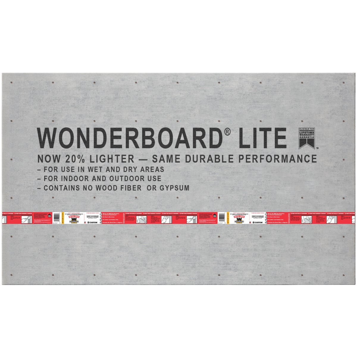 3X5X7/16 WONDERBOARD - GCB60L by Custom Building Prod