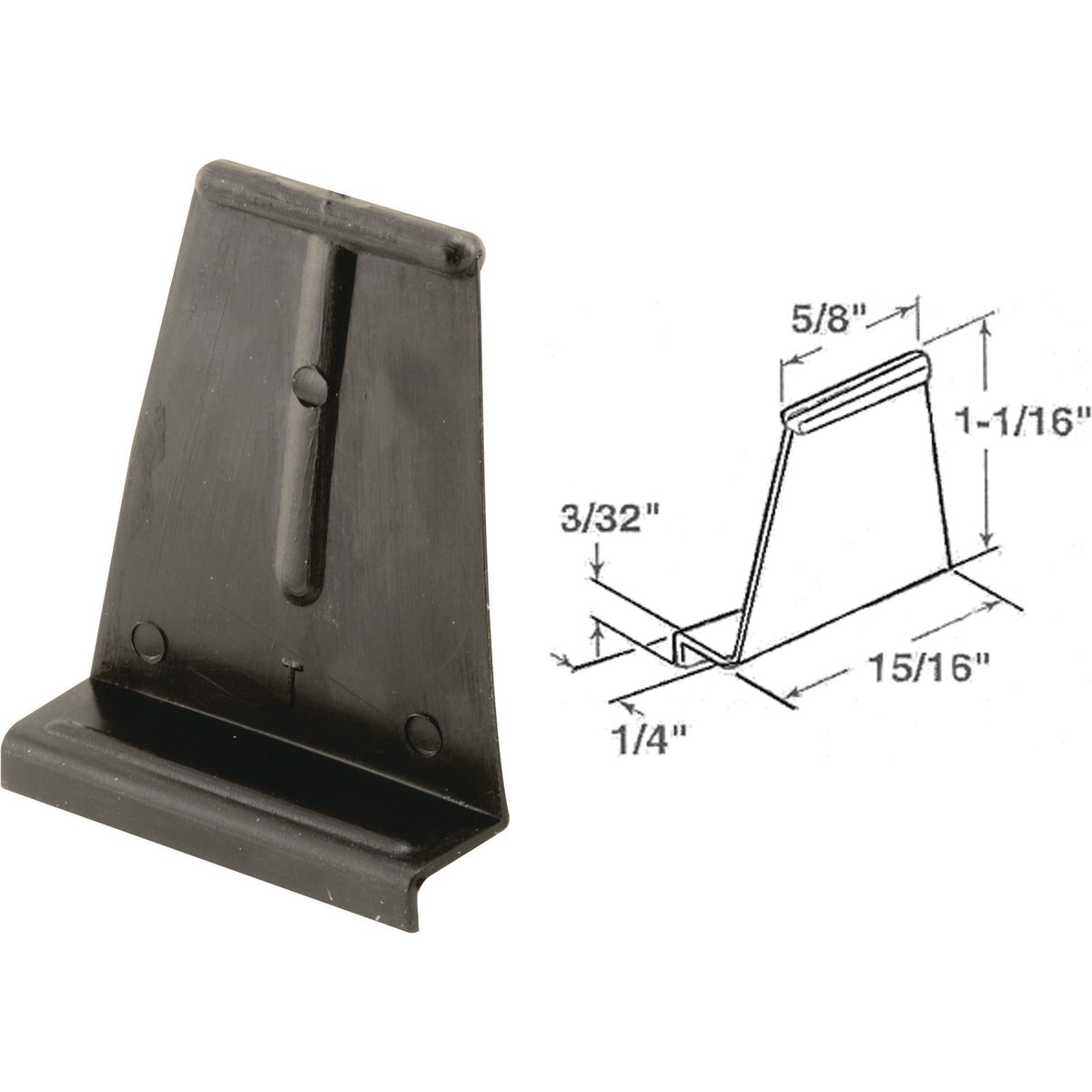 6PK CHANNEL PULL TAB - PL7921 by Prime Line Products