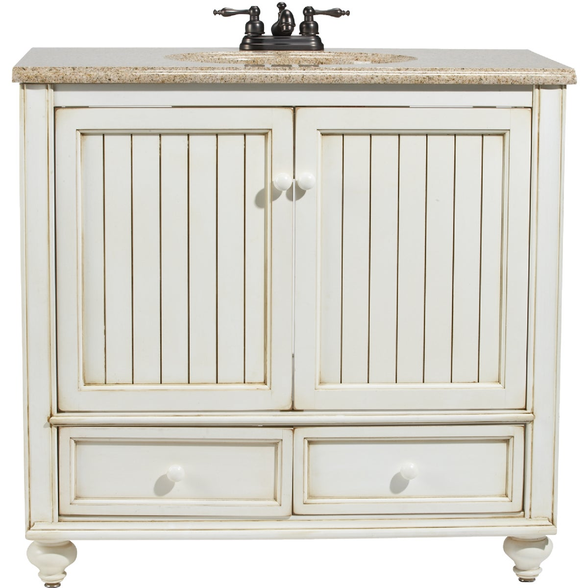 36X21 WH BSTL BCH VANITY - BB3621D by Sunnywood Products