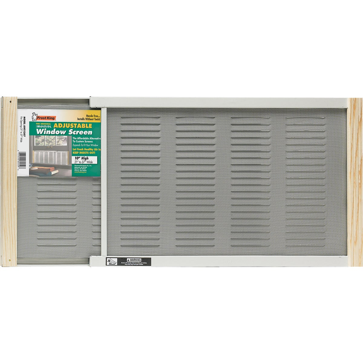 WNDW SCREEN W/VENTILATOR - AWS1207 by Thermwell Prods Co