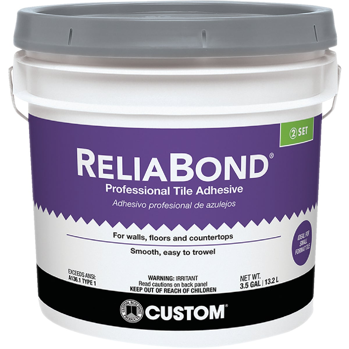 "3-1/2"" WHT TILE MASTIC - RBM3ES by Custom Building Prod"