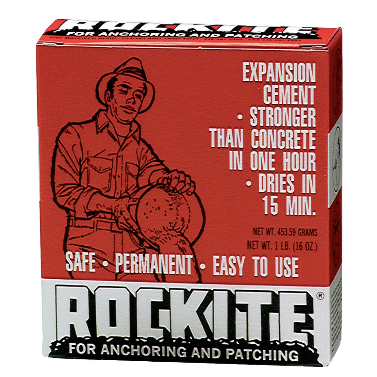 1LB ROCKITE CEMENT - 10001 by Hartline Products